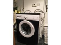 Beko washing machine black and white painted