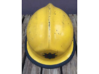 Obsolete Staffordshire fire and rescue Firemans helmet from 1995.