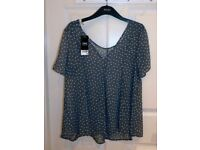 Next - Star pattern blouse top - Size 10 - Brand new with tags