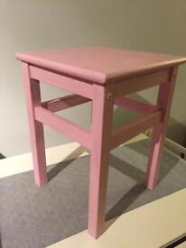 Small wooden table - painted pink