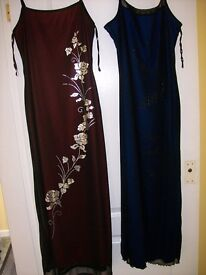 2 Ladies dresses in lovely colour
