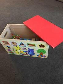 Wooden Shape Sorter toy box