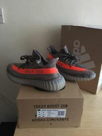 Adidas yeezy 350 V2 SPLY Beluga Solar Red UK8 US8.5 100%Authentic