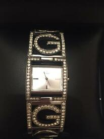 Original Guess watch silver diamonte