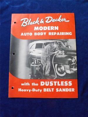 Photo BLACK & DECKER SALES BROCHURE CATALOG DUSTLESS BELT SANDER AUTO BODY REPAIRING