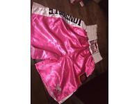 Boxing shorts.