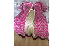 Pakistani/Indian Anarkali lehenga suit jacket skirt dress Asian clothes