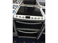 New Ex-Display Zanussi ZCV68310WA 60cm Double Oven Electric Ceramic Cooker White £299