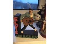 Elvis Presley figures books jigsaw and other stuff nice
