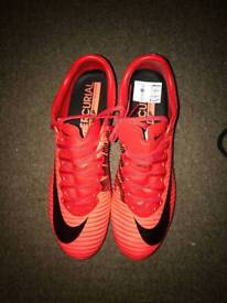 brand new cherry red mercurial football boots