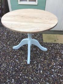 Solid oak pedestal table
