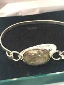 Irish Connemara Marble Bangle