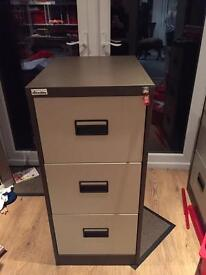 Three draw filing cabinet