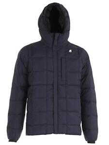 K-Way Men's Reversible Padded Jacket Jack Thermo Stretch K007GV0 904 (Size L / Black-Blue D) - Slim Fit