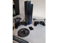 Sony Playstation 2 Ps2 Two Controller And Game