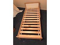 Children's ikea bed with mattress
