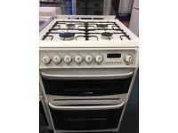 CANNON 60CM DUAL FUEL COOKER IN WHITE