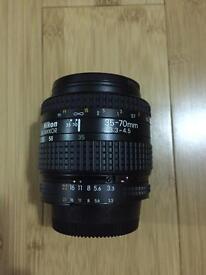 Nikon nikkor 35-70mm f/3.3-4.5 lens
