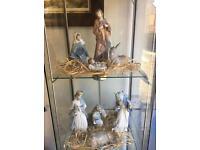 Beautiful 8 Piece NAO by Lladro Nativity Set