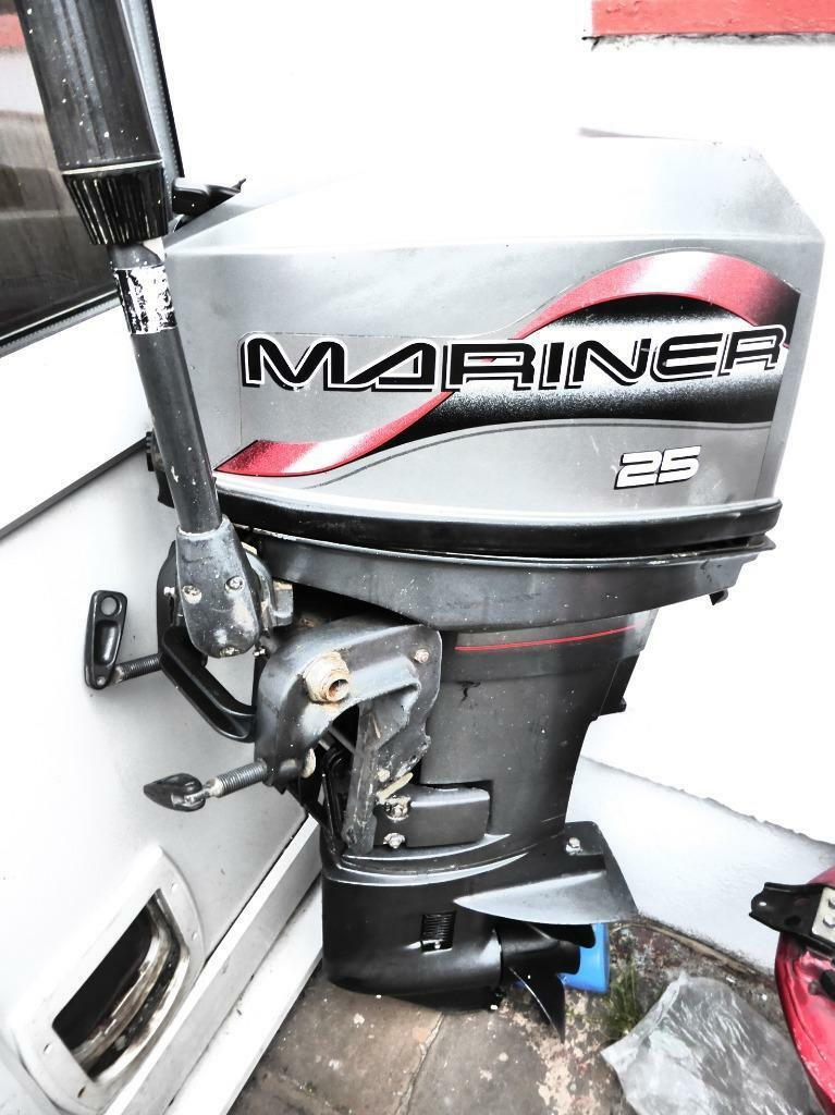 Mariner 2 stroke 25 hp short shaft outboard motor in for 10 hp outboard jet motor