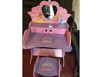 Disney Princess wooden dressing table and stool