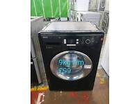 Beko black 9kg washing machine free delivery in Coventry
