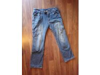 Bull-it women's motorcycle jeans, UK size 12, hip pads included