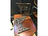 Antique cast iron throne toilet seat brackets wc toilet Reclamed very rare