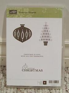 Stampin' Up! Contempo Christmas Clear Mount Stamp Set - RETIRED