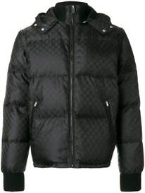 Gucci jacqured jacket detachable arms and hood