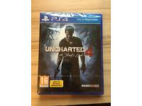 Uncharted 4 ps4 sealed!!!