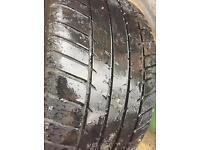 2x porsche N rated ( pair ) Michelin pilot sport 2 tyres 265 35 18