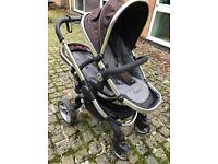 Icandy Peach Blossom Twin pram with a carrycot