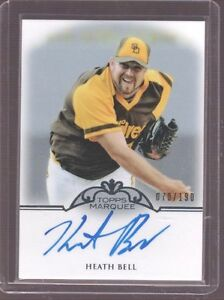2011-TOPPS-MARQUEE-HEATH-BELL-PADRES-AUTO-CARD-SERIAL-ED-70-190