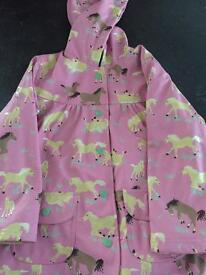 Girls hatley rain coat age 6