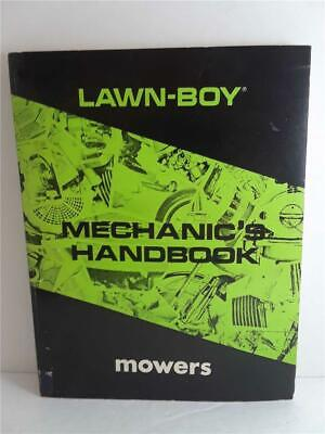 $0 ship 1975 lawn-boy mechanic's handbook MOWERS book