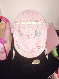 Baby bits! Bouncer jumparoo , walky pram and more !!