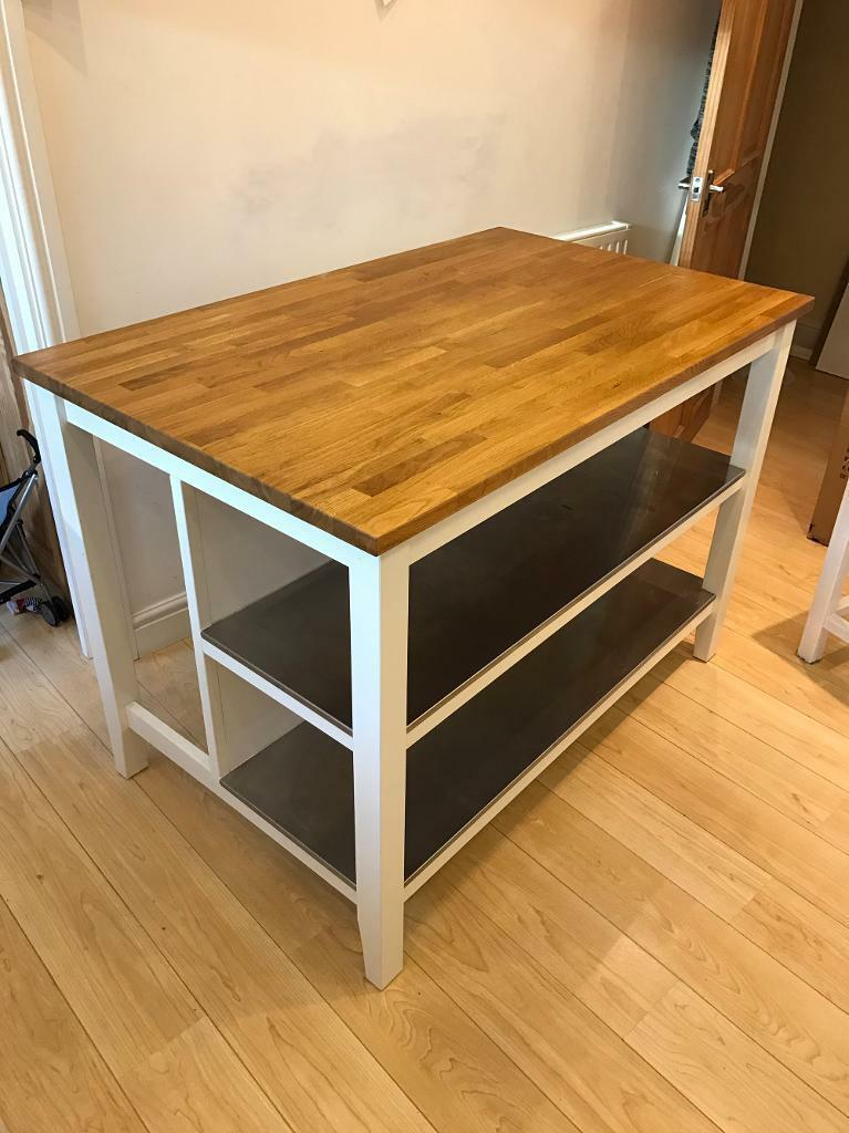 Ikea Stenstorp Kitchen Island With 3 Bespoke Bar Stools
