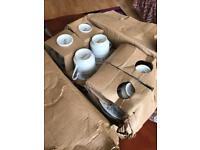 6 piece tea and saucer set