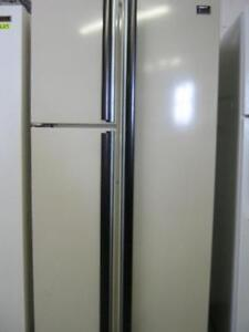 Almond Side x Side 3 door fridges $150 As is $50 delivery fee incl. removal