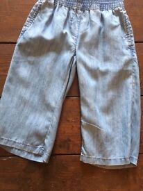 Girls cotton cropped jeans