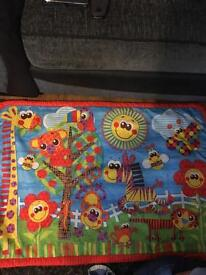 Baby play gym and baby play mat