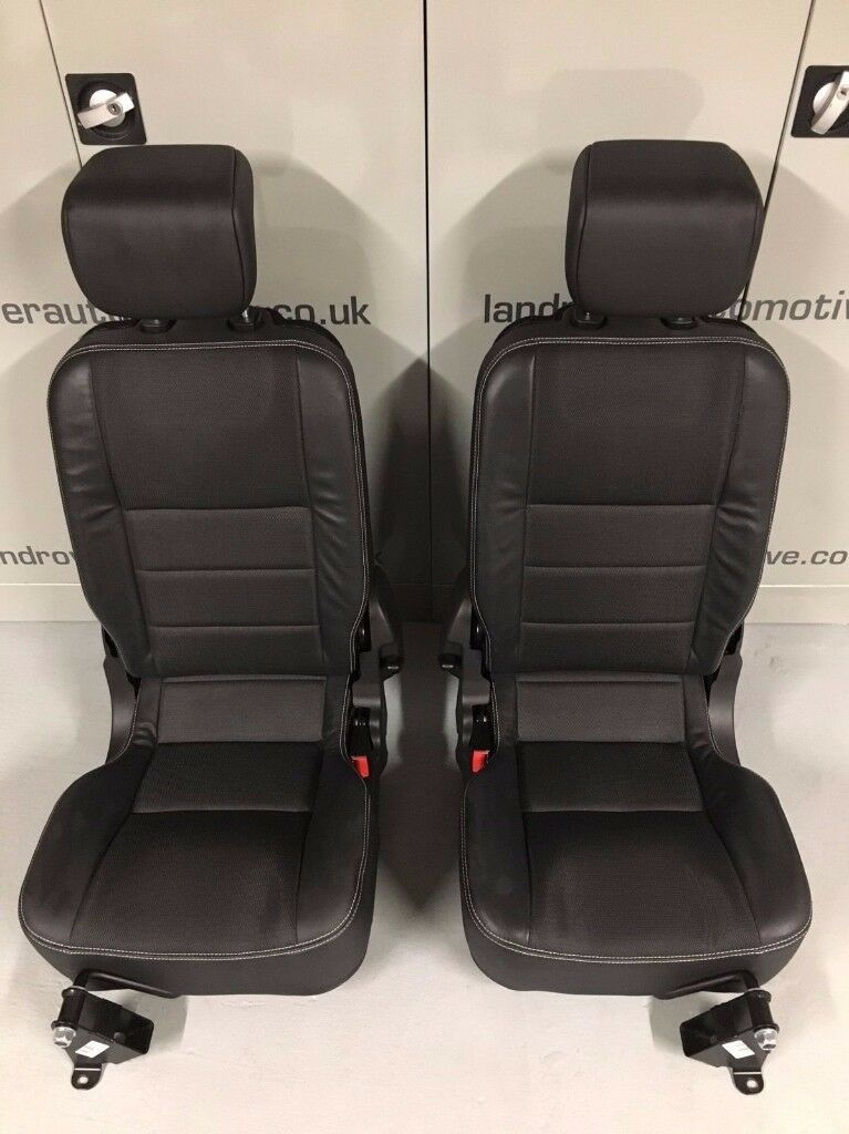 LAND ROVER DEFENDER 90/110 PUMA TDCI XS REAR FORWARD FACING SEATS & BRACKETS NEW