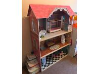 Girls Manor dolls house - excellent condition