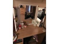 Antique Folding Vanity Mirror