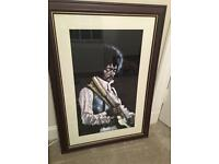 Jimmy Hendrix picture painted on velvet