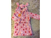 DEBENHAMS FLEECE ROBE , DRESSING GOWN , 18-24 month BNWT