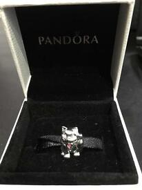 PANDORA silver cat charm