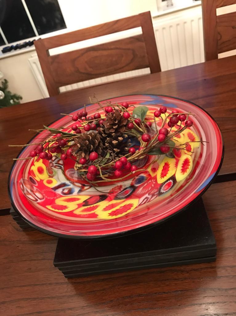 Glass table centrepiece - display bowl - Christmas 🎄