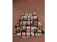 Retro/Vintage Postcards Skirt (size 14-16)